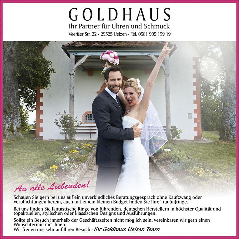 Goldhaus Trauringe Hochzeitsmesse Uelzen 15. Januar 2017