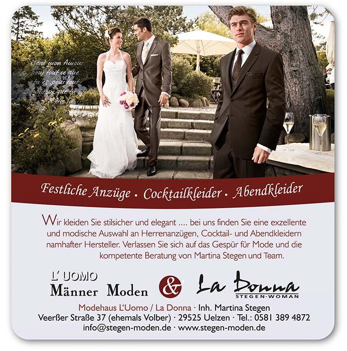 L uomo Mode für den Bräutigam auf der Hochzeitsmesse Uelzen 17. Januar 2015 Stadthalle Uelzen